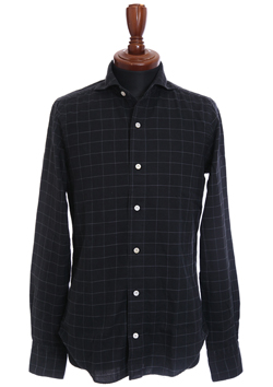 SIMONE CUTAWAY COLLAR CHECK SHIRT
