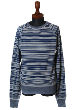M ORIGINAL INDIGO BORDER WEAVE STAR KNIT