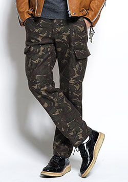 NEEDLE-PUNCH ARMY PANTS