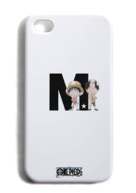 M IPHONE4 COVER (ONE PIECE LUFFY & ACE BY M)