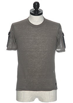 COMBAT POCKET LINEN KNIT T-SHIRT
