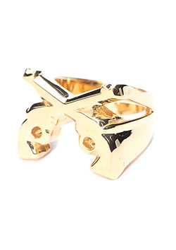 roar IVX STAMP RING PLAIN GOLD
