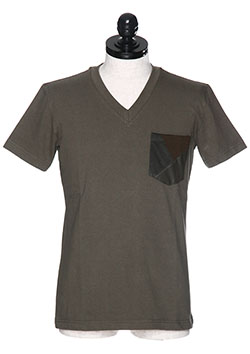 CRAZY CUTTING JERSERY POCKET T