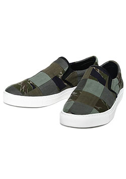 REAL MILITARY FABRIC REMAKE SLIP ON