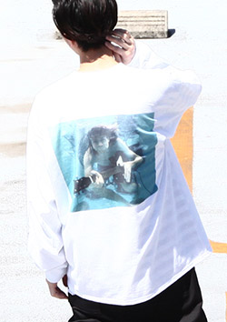 HALFMAN USA × KURT COBAIN POOL LONG SLEEVE