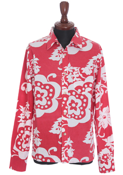 M L/S RETRO FLOWER PATTERN SHIRTS