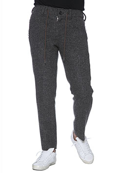 CUT-OFF TWEED PANTS