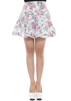 JOYRICH OPTICAL GARDEN PLEATS SKIRTS