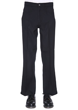 TWILL BELL BOTTOM TROUSERS
