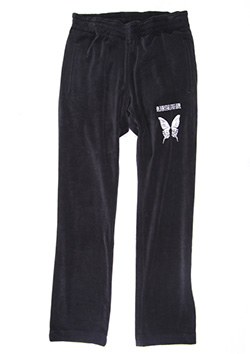 COTTON VELOR EMBROIDERY TRACK PANTS
