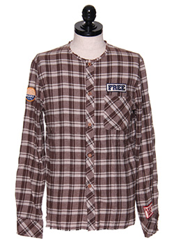 CUT OFF ORIGINAL PATCH CHECK SHIRT