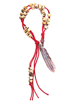 FEATHER CHARM BRADS BRECELET