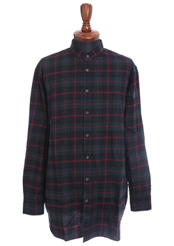 XX FOUR BAND COLLAR CHECK SHIRT
