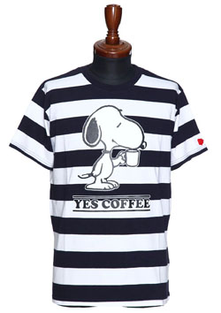 SNOOPY YES COFFEE T-SHIRT