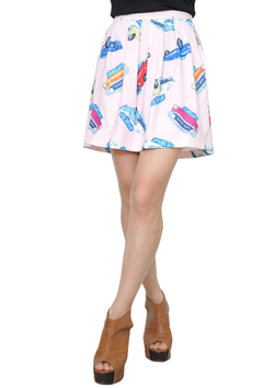 JOYRICH CAR CAMP SKATER SKIRT