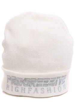 JOYRICH PROGRESSIVE SILVER EMBROIDERED BEANIE