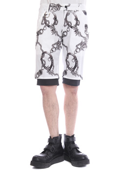CHAIN LAWM LAYERED SHORT PANTS