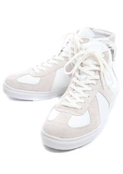 AKM × HardiVague GERMAN TRAINER HI COW LEATHER SNEAKER