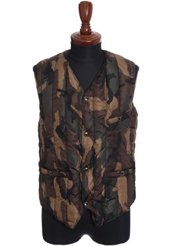 1PIU1UGUALE3 LIMONTA ORIGINAL CAMO 6 MONTH INNER DOWN VEST BY ROCKY MOUNTAIN FEATHERBED