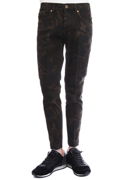 1PIU1UGUALE3 ORIGINAL CAMO STRETCH DENIM TWIGGY PANTS