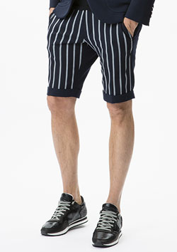 1PIU1UGUALE3 30/2 TR 2WAY RIB TROUSERS SHORTS