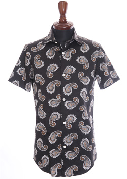 ORIGINAL STRETCH PAISLEY PLAIN S/S SHIRT
