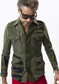 REAL MILITARY FABRIC RE-MAKE COMBAT SHIRTS L/S