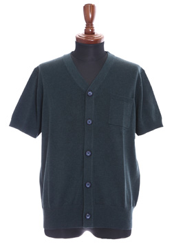 9200 AIR WOOL BIG SHORT-SLEEVED CARDIGAN