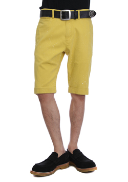 PAINTED HIGH POWER STRETCH TWILL PAINTED HIGH POWER STRETCH TWILL TAPERED SHORTS