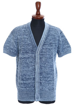 Sand Blaster BASKET BRAIDED INTREPID SHORT-SLEEVED CARDIGAN