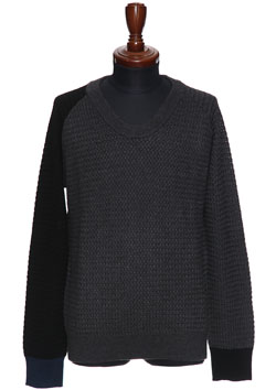 9200 BASKET WOVEN ORIGINAL U-NECK PULLOVER